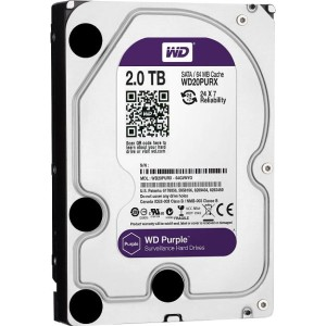 "WD20PURX Dysk 3.5"" 2TB Western Digital Purple SATA 6Gb/s 64MB cache"