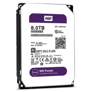 "WD80PUZX Dysk 3.5"" 8TB Western Digital Purple SATA 6Gb/s 128MB cache"